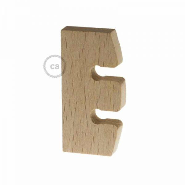 suspension lamp height regulator in untreated neutral wood made in italy
